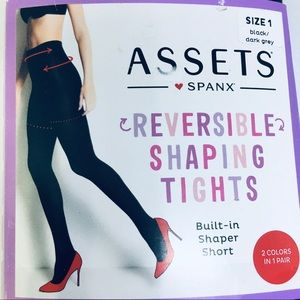 Assets by Spanx Reversible Shaping Tights, size 1